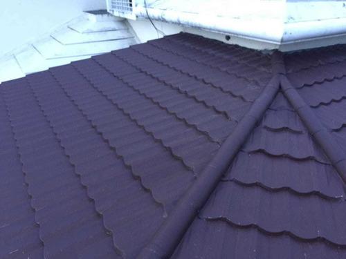 techo en aluzinc tipo teja