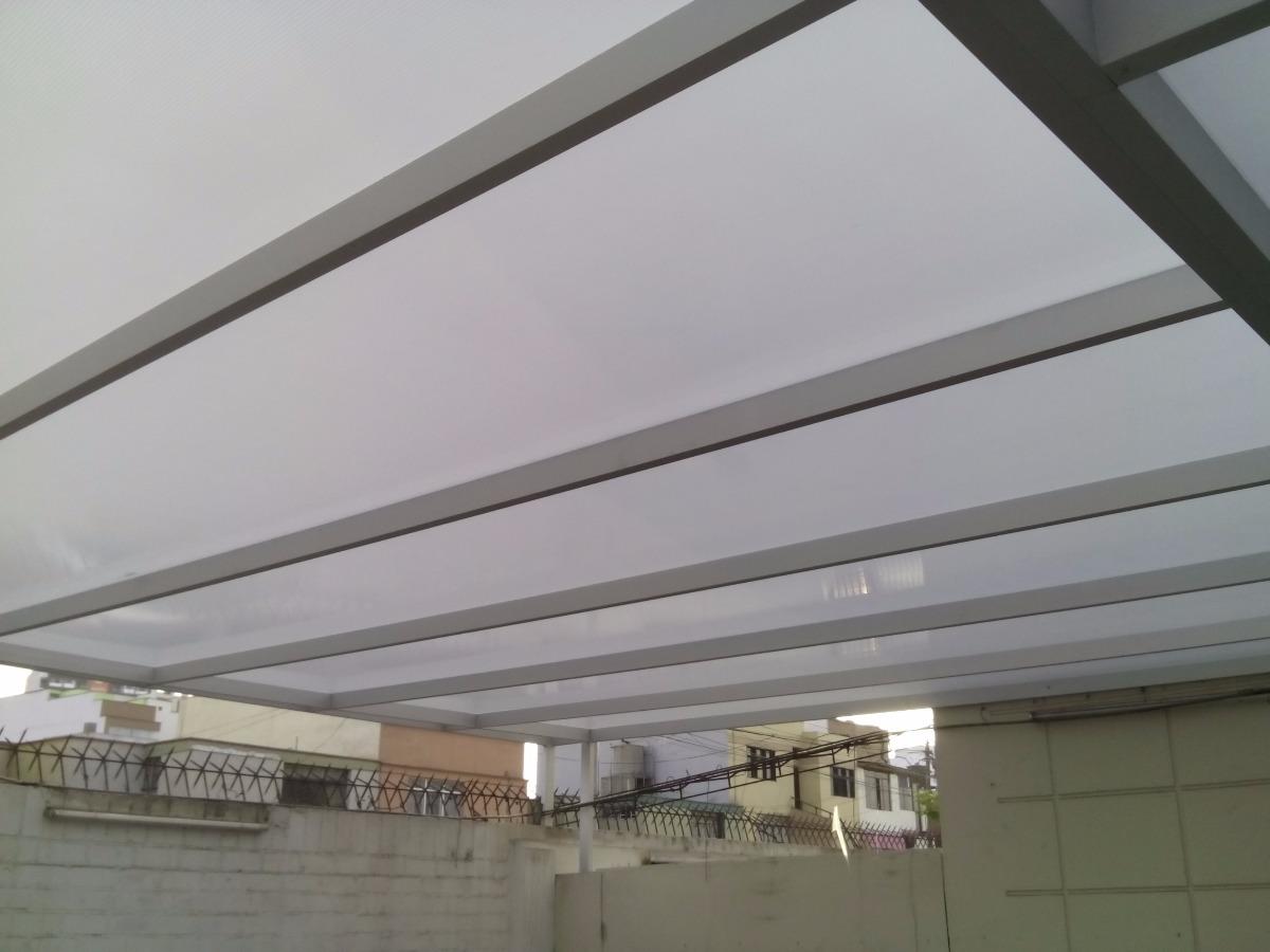 Techo en policarbonato para terrazas patios lavander a s for Techos de policarbonato para balcones
