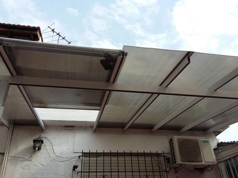 techo fijo en policarbonato con estructura de aluminio - $ 3.704,91
