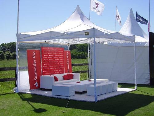 techo para carpas 3x3 blanco, azul, rojo impermeable