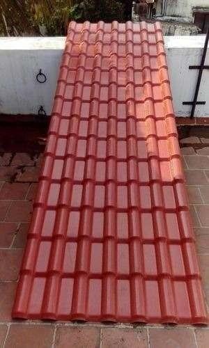 Techo Rojo Laminas De Pvc Tipo Tejas Bs 1 60 En Mercado