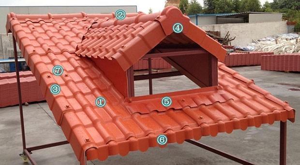Techo rojo laminas de pvc tipo tejas bs 1 60 en mercado for Tipos de techos de tejas