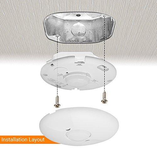 techo sensor de ocupación por enerlites pir de techo del se