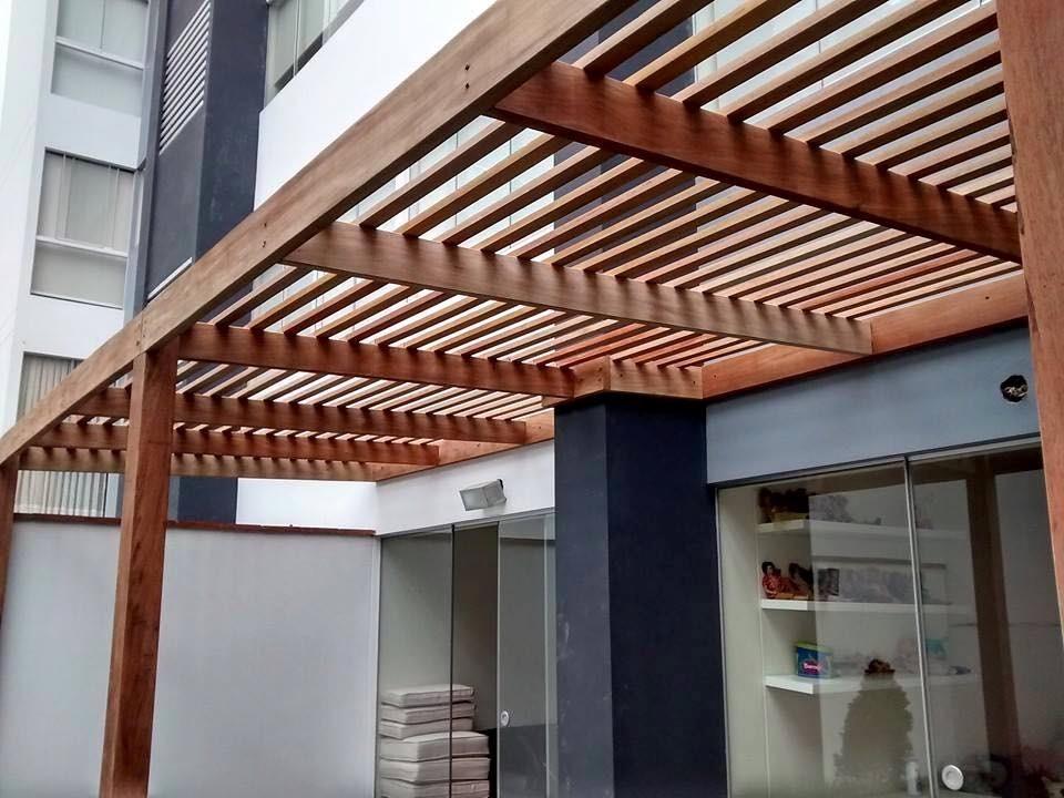 Techo sol y sombra madera y acabados s 1 00 en mercado - Madera para techos interiores ...