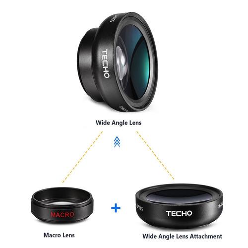 techo universal hd kit profesional lente para smartphones