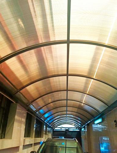 techos con  policarbonato de 10mm aleman