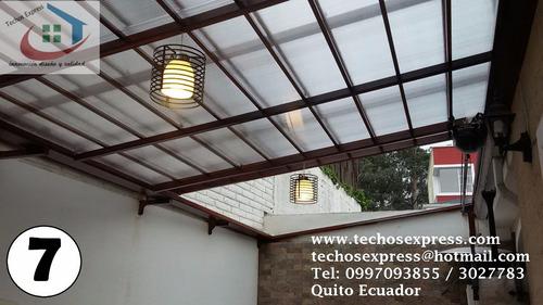 techos corredizos con policarbonato pergolas cubiertas