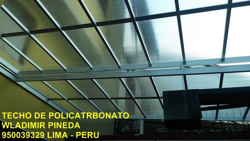 techos corredizos de policarbonato 972096635 - en mercado libre