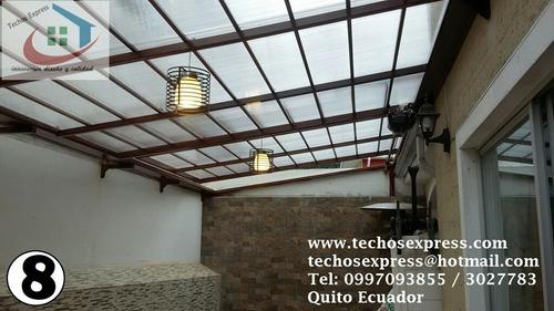 techos corredizos  policarbonato cubiertas pergolas patios