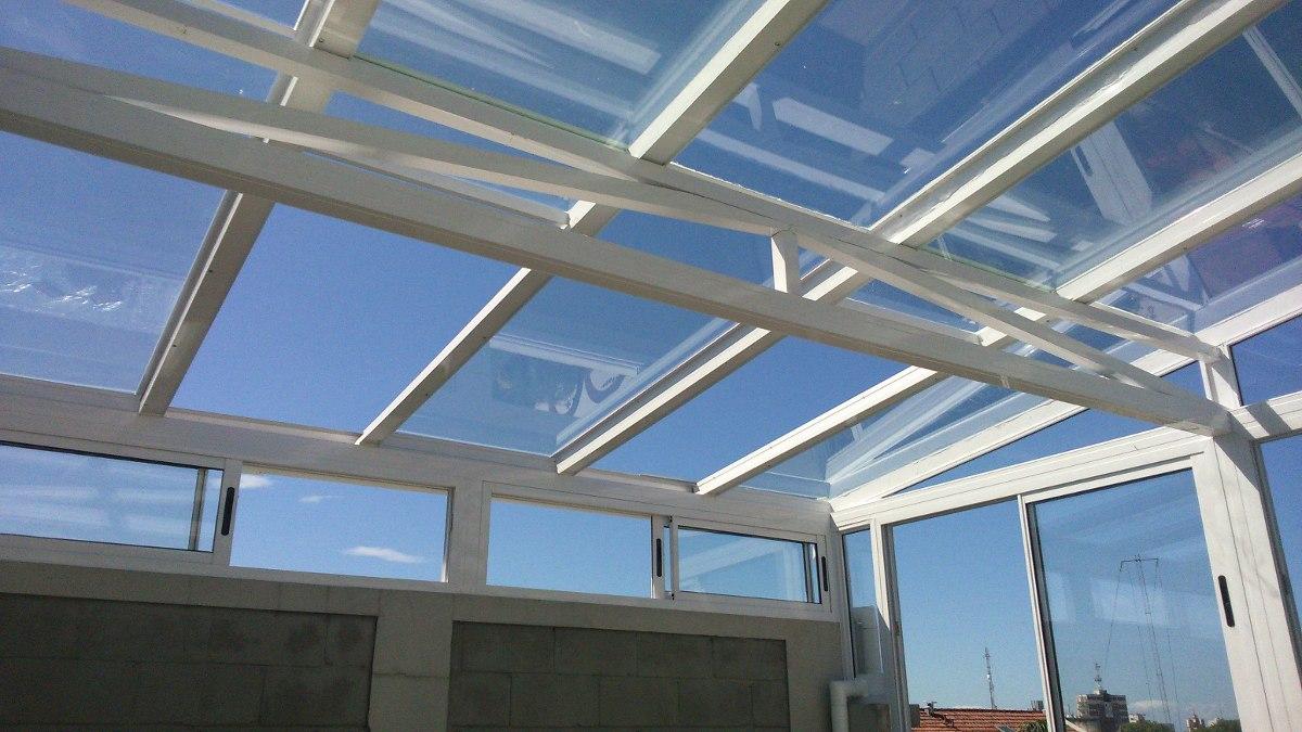 Techos corredizos y fijos con vidrio o policarbonato en mercado libre - Techos de cristal para casas ...