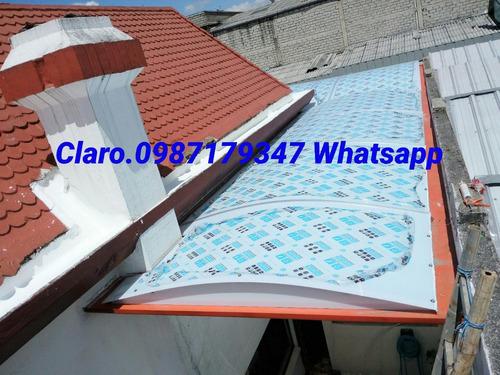 techos cubiertas con policarbonato 100%de bayer&estructuras