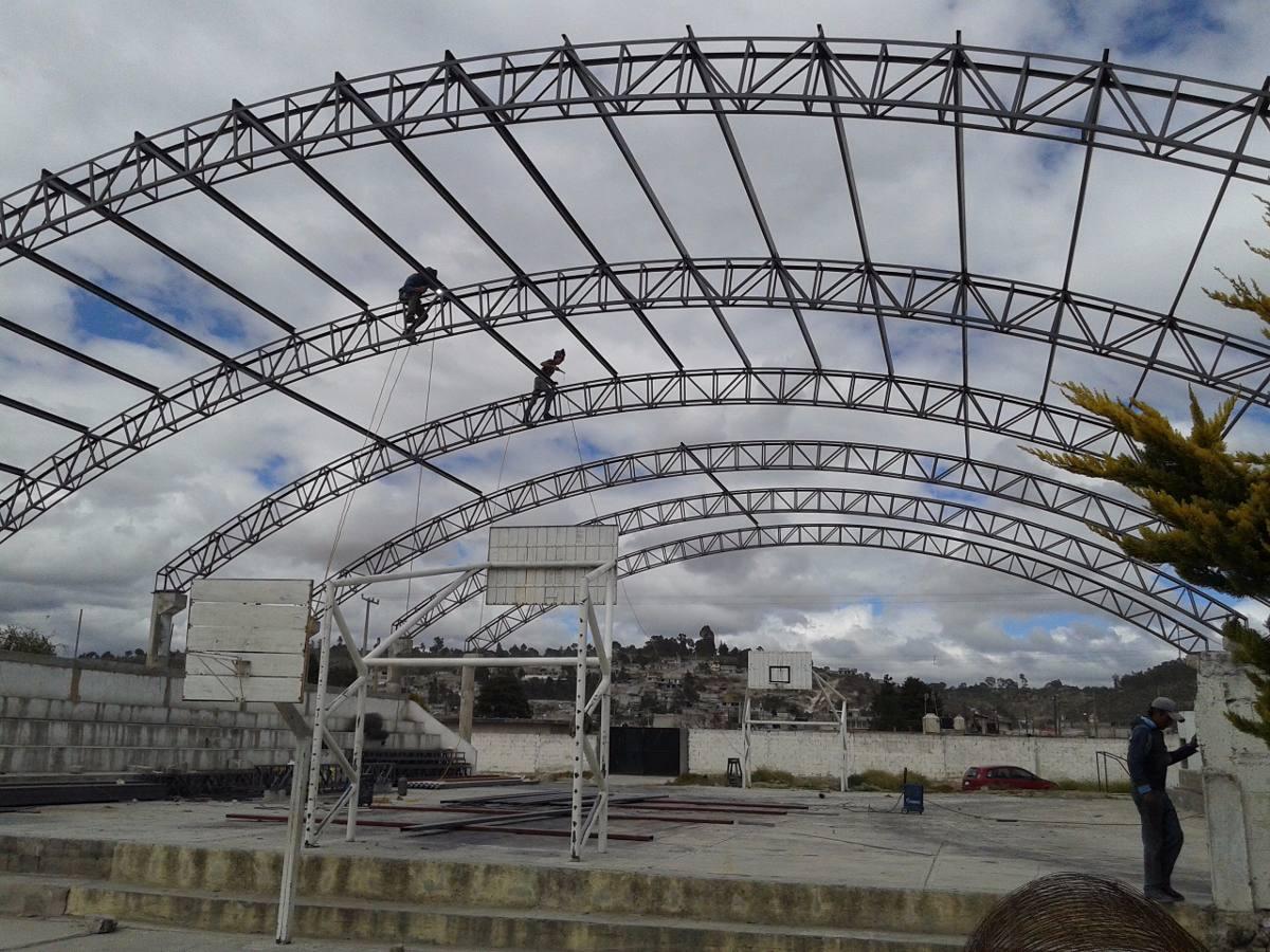 Techos curvos y estructuras para todo tipo de escuelas - Precio estructura metalica ...