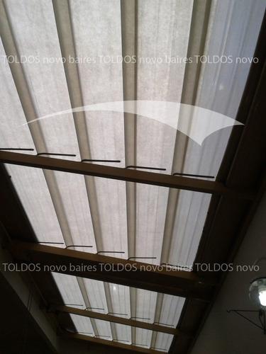 techos de laminas rebatibles. láminas para toldos.
