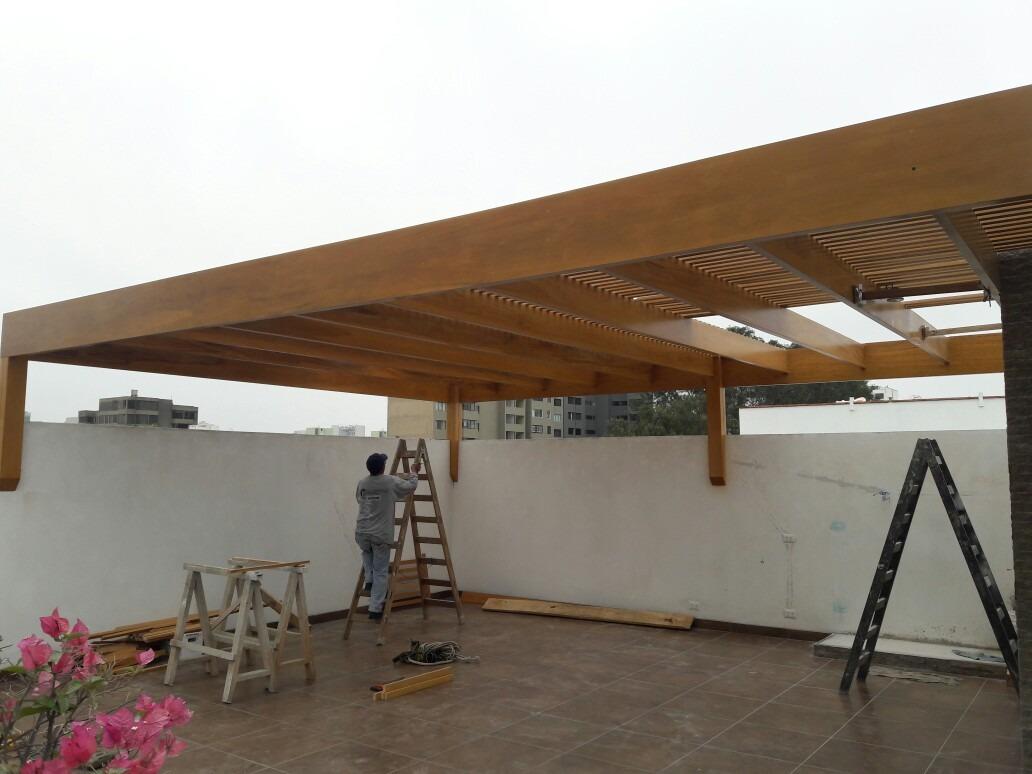 techos de madera sol y sombra s 100 00 en mercado libre. Black Bedroom Furniture Sets. Home Design Ideas