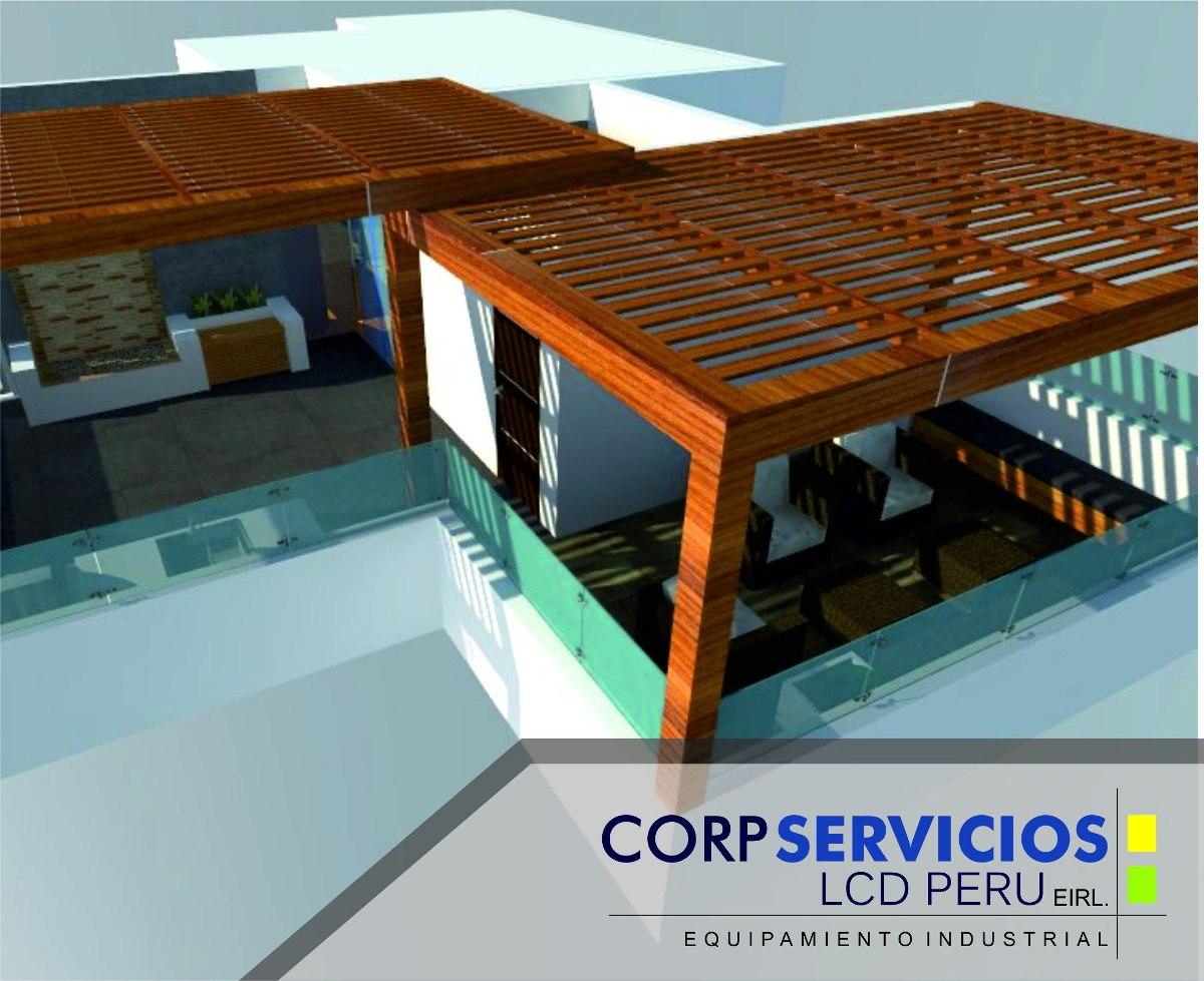 Techos de madera sol y sombra dise amos en 3d tu terraza - Madera para terrazas ...
