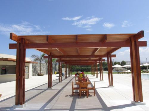 techos de madera sol y sombra, policarbonato,