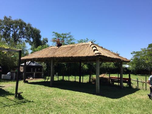 techos de paja - sombrillas - pergolas de cañas - quinchos