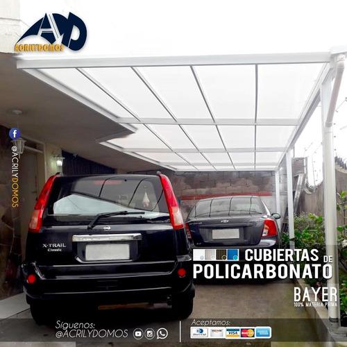 techos de policarbonato 100% alemán  a $50