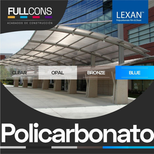 techos de policarbonato alveolar para cubiertas pérgolas