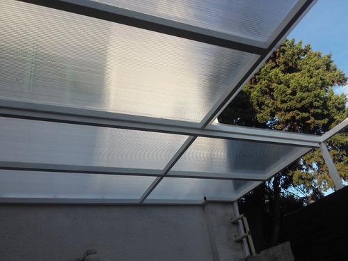 techos de policarbonato fijos y corredizos