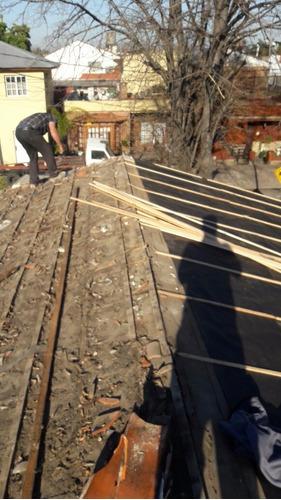 techos de  tejas , (chapa  con materiales $1200)