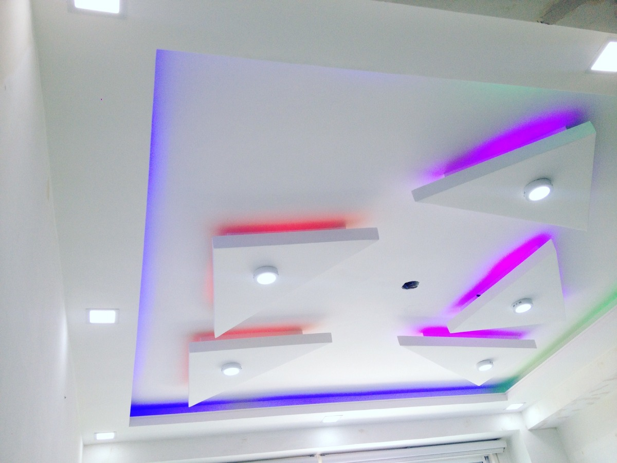 Techos en drywall yeso y cocuiza molduras tabiques for Modelos de cielo raso para salas