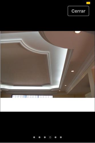 techos en drywall, yeso y cocuiza, molduras, tabiques.