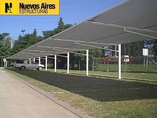 Techos estacionamientos galerias refugios garajes cocheras for Toldos para estacionamiento