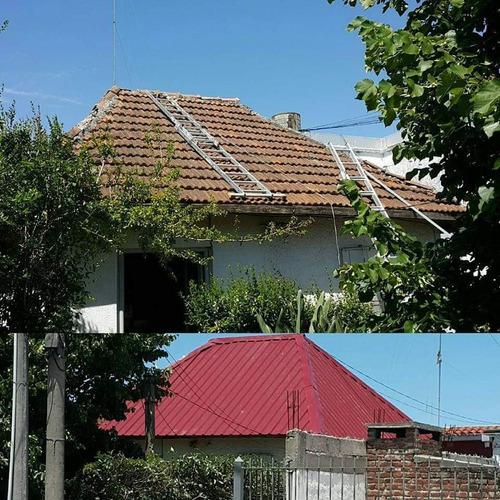 techos livianos, sobretechos instalados sin albañilería