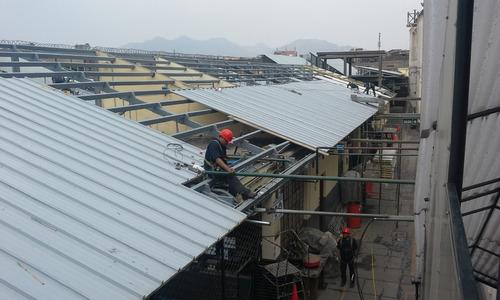 techos metálicos, estructuras metálicas