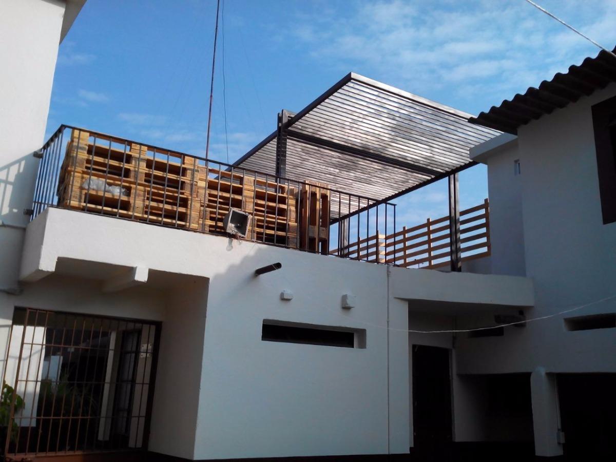 Techos metalicos para terraza y jard n pergolados - Estructuras de acero para casas ...