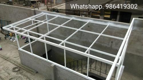 techos metalicos, techos parabolicos, estructura metalica