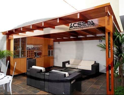 Techos para patios y terraza de madera y metal s 220 00 for Techos para patios exteriores