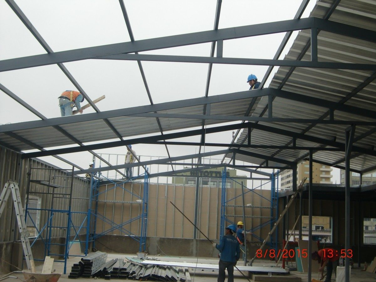 Techos parab licos techos industriales estructuras for Modelos de gibson para techos