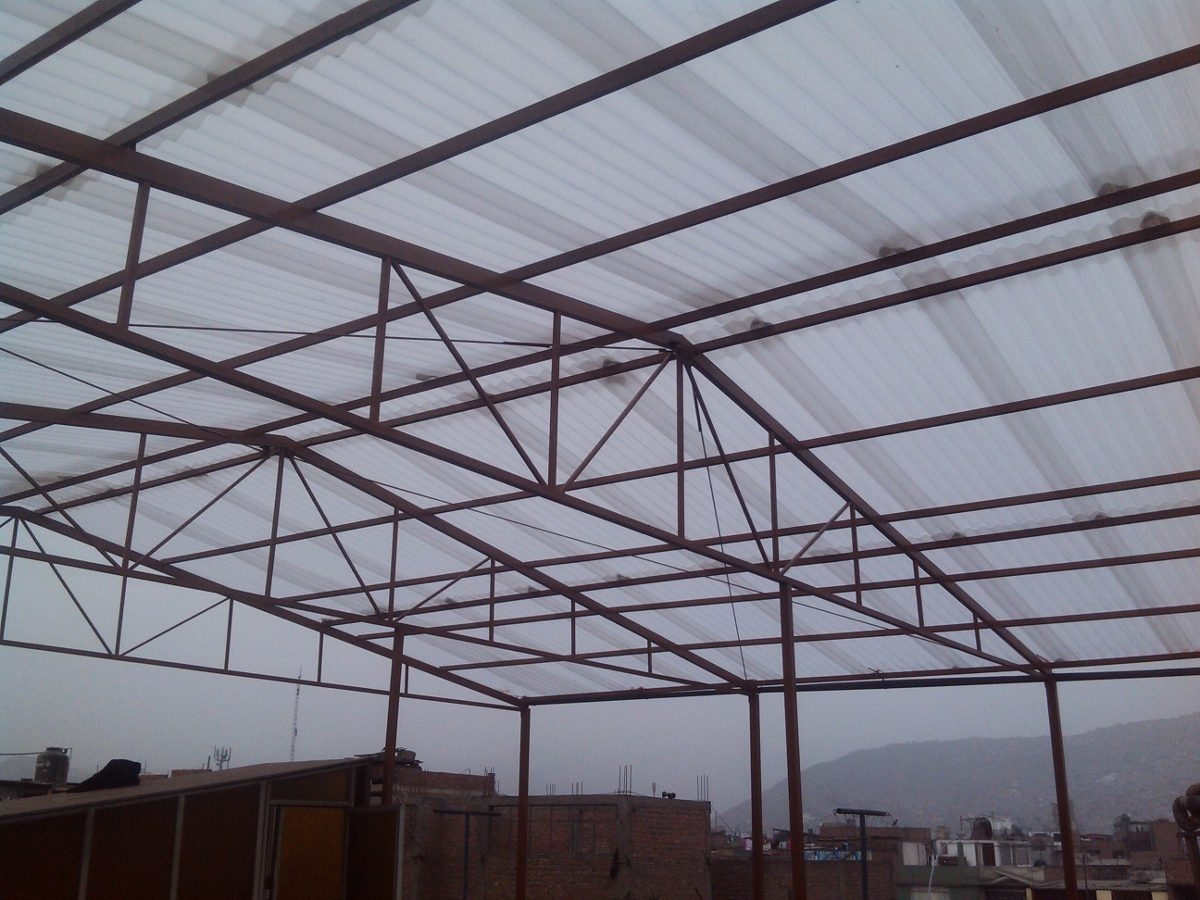 Techos parab licos techos industriales estructuras for Modelos de techos para galerias