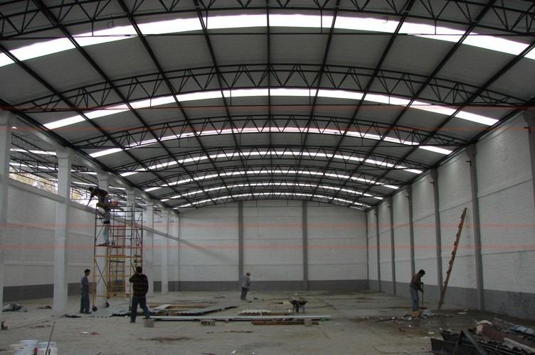 Techos parab licos techos industriales estructuras for Como hacer una estructura metalica para techo