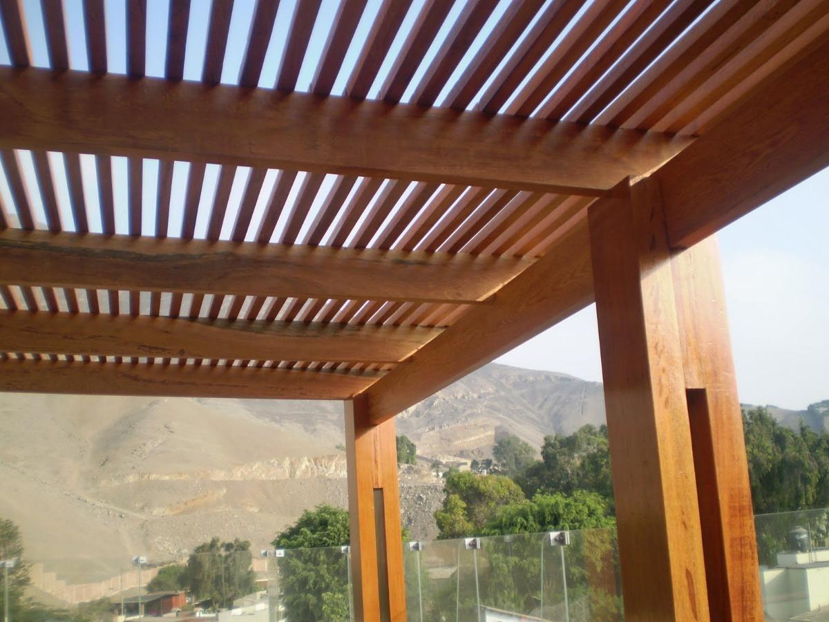 Techos sol y sombra en terraza pergolas de madera s 250 00 en mercado libre - Techados de madera ...
