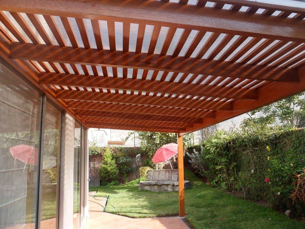 Techos sol y sombra en terraza pergolas de madera s 220 00 en mercado libre - Techos pergolas ...