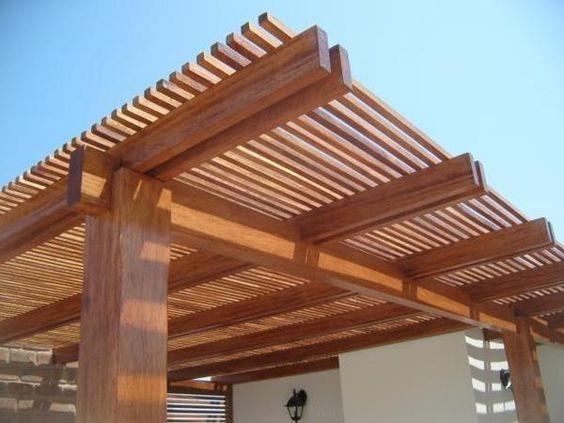Techos sol y sombra en terraza pergolas de madera s 250 00 en mercado libre - Techos de maderas ...