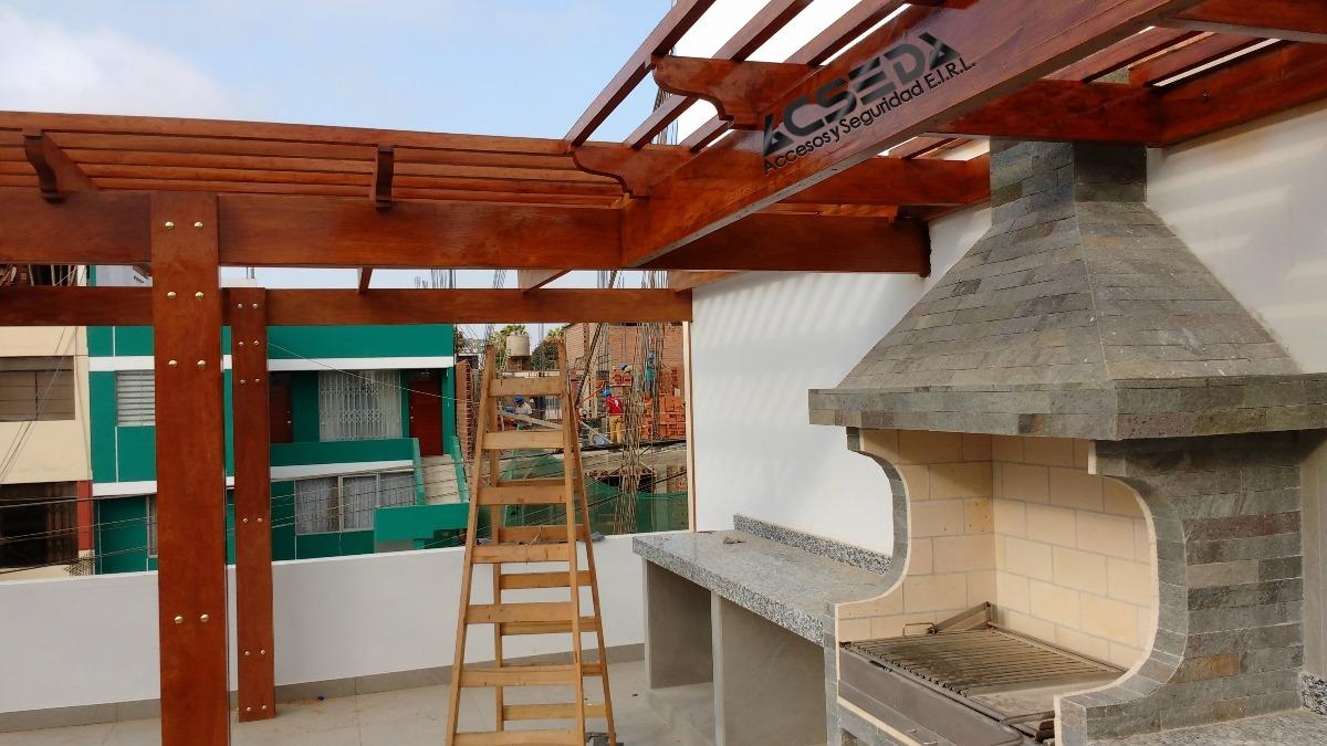Techos sol y sombra en terraza pergolas de madera s 220 00 en mercado libre - Techos terrazas ...