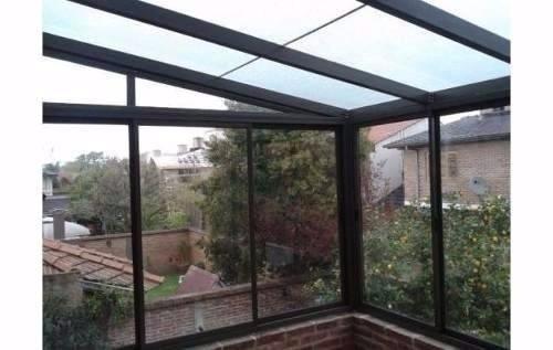 techos y cerramientos de aluminio,con policarbonato o vidrio