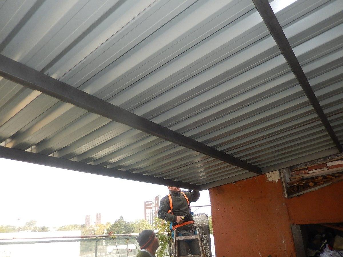 Techos y estructuras en hierro y madera 150 00 en for Modelos de techos metalicos para casas
