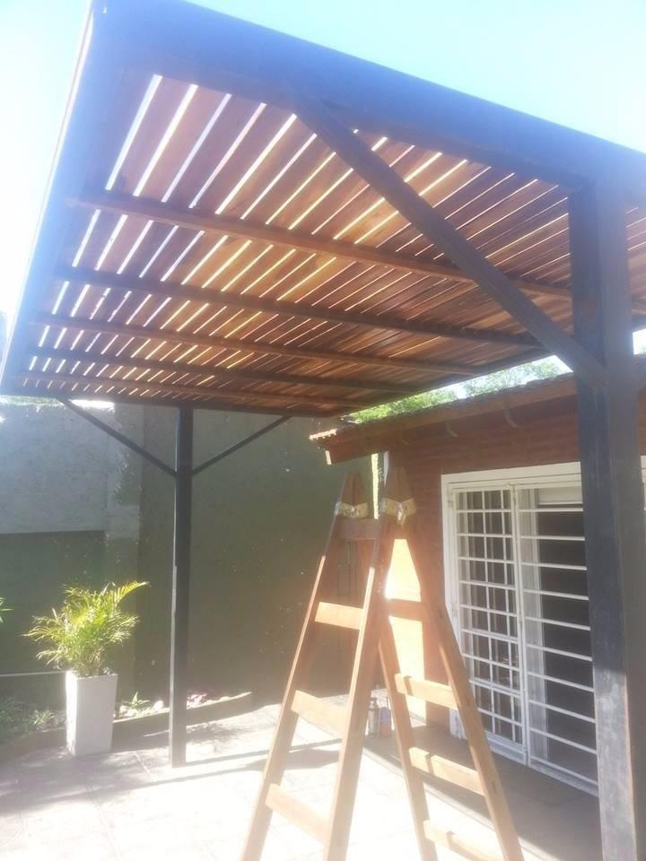 Techar pergola techos y pergolas en hierro madera y - Techo para pergola ...