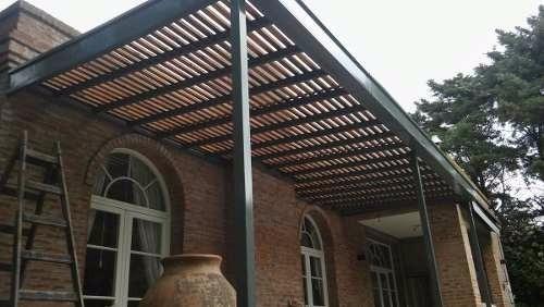 Techos y pergolas en hierro y madera en mercado libre - Pergola de hierro ...