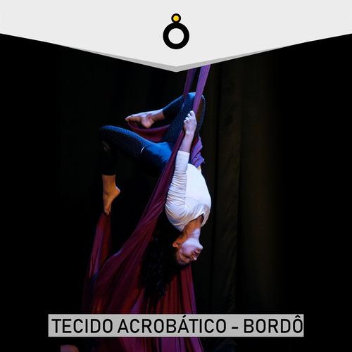 tecido acrobático 10 metros bordô