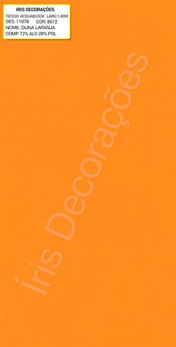 tecido  aquablock karsten   duna laranja 6 metros