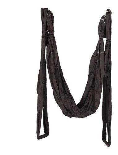 tecido de suspensão liveup aero pilates e yoga swing preto