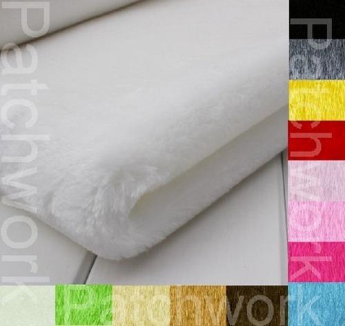 tecido em pelúcia fio alto 1,60m x 50cm ursinhos pachwork
