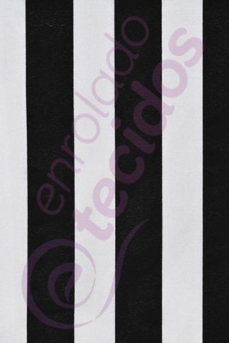 tecido gorgurinho listrado preto e branco 2m x 1,5m painel