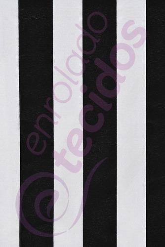 tecido gorgurinho listrado preto e branco 4m x 1,5m painel